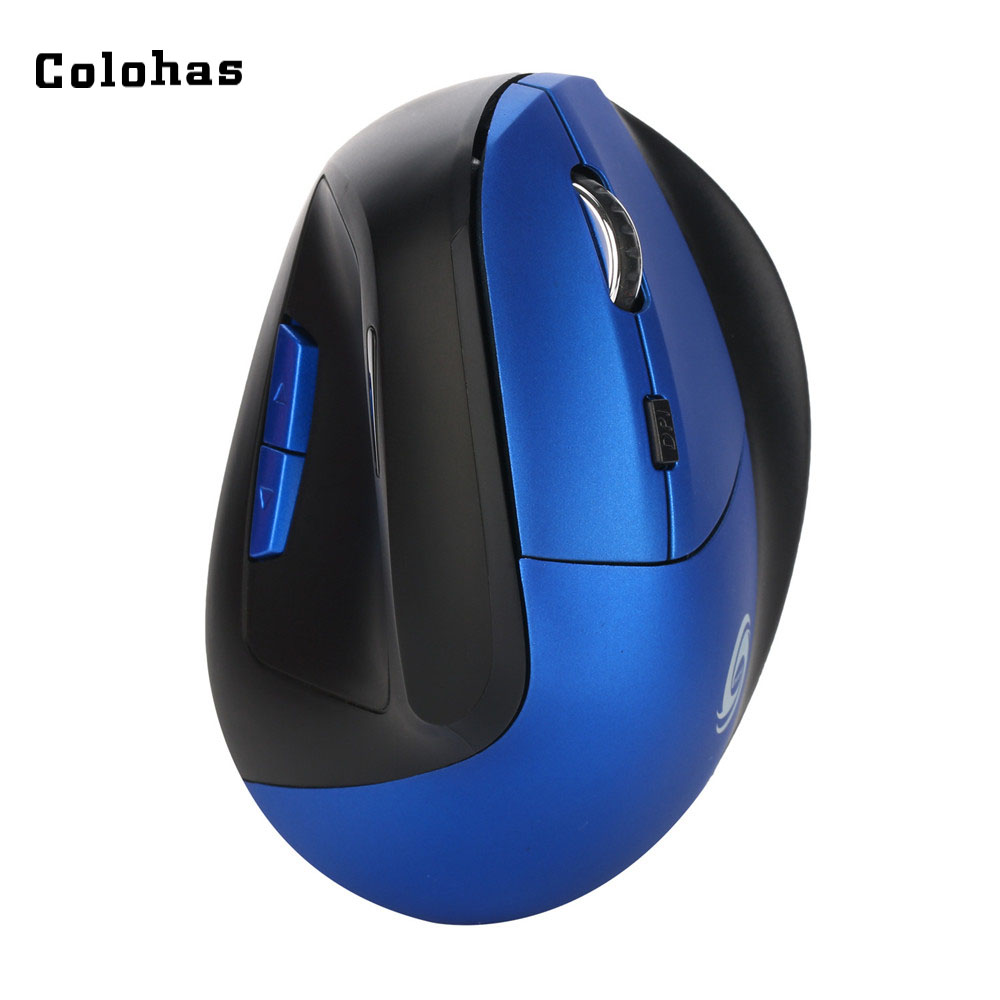 Colohas 1600DPI Vertical Gaming Mouse Rechargeable Optical Mice With Micro USB Power Cable Office Home 2.4Ghz Wireless Mouse