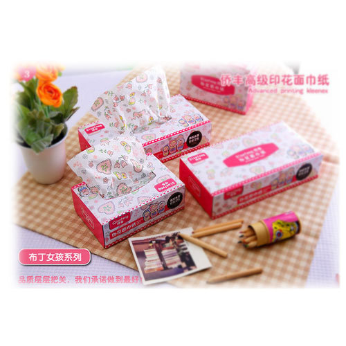 Quality Print Washouts Paper Single Box Small Boxed Tissue Table Napkin  Paper 80