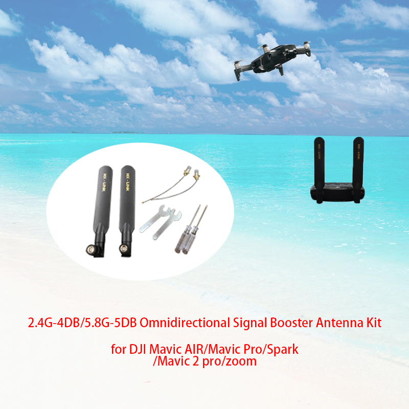 DJI Mavic Air/Mavic Pro/mavic 2 zoom Signal Booster Omnidirectional Antenna Booster Range Extender for DJI Spark/mavic Drone dji mavic air rc drone 32mp spherical panorama photo