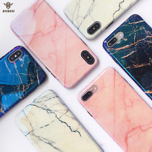 Case For iphone 7 Coque X 6 6s Plus Cover Soft Gloss marble Phone 8 Fundas
