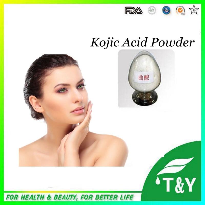 ФОТО Wholesale Manufacturer supply top quality kojic acid powder 1000g/lot