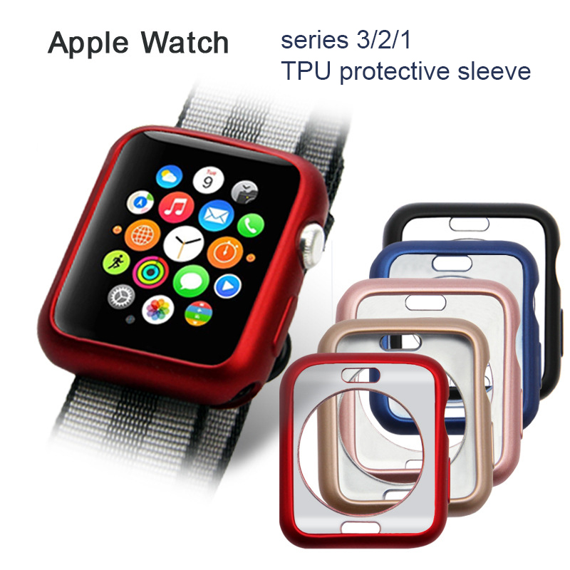 For Apple Watch Series 2/3 TPU Scratch-resistant Flexible Soft Case Slim Lightweight Protective Bumper Cover iWatch Accessories биокамин настольный silver smith 34х26 см simple black 06004bk0