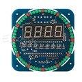 DIY DS1302 Вращающийся СВЕТОДИОДНЫЕ Электронные Цифровые Часы Комплект Температура Табло