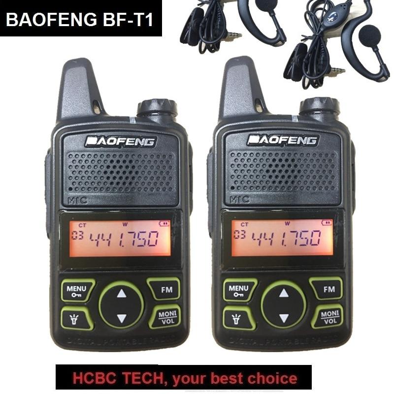 1/2/3/4PCS BAOFENG BF-T1 Mini Talkie Walkie Kids Radio UHF Portable CB Radio Transmitter Baofeng T1 Tranceiver Ham Radio Amateur