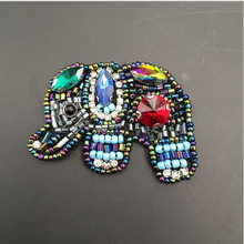 Sequined elephant Patch for Clothes Sewing on Rhinestone Beaded Applique  for Jackets Jeans Bags Shoes Beading d695d380aa52