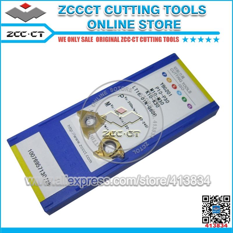 Free Shipping 50pcs LT16.01N-G60P YBG201 ZCC threading insert left hand tool internal cutting inserts for P M K metal cut