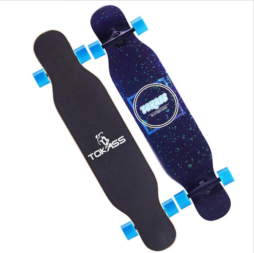 Image 2 - Maple Complete Skate Dancing Longboard Deck Downhill Drift Road Street Skate Board Longboard 4 Wheels For Adult Youth-in Skate Board from Sports & Entertainment