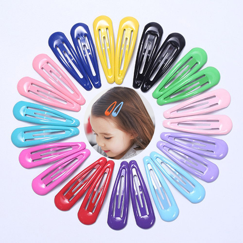 1Pcs Candy Solid Color Children Snap Hair Clips Barrettes Girls Cute Hairpins Colorful Hairgrips For Kids Hair Accessories
