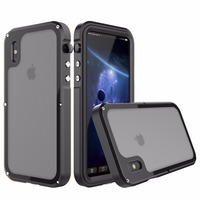 R JUST Luxury Heavy Duty Hybrid Cover For IPhone X Metal Armor Shockproof Aluminum Case For