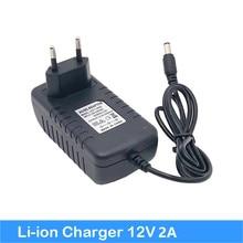 V-40 12 В 2A адаптеры питания 12 В 18650 батарея зарядное устройство EU/US Plug DC 2,1*5,5 мм выход Питание Литий-ионный Зарядное устройство/адаптер jy