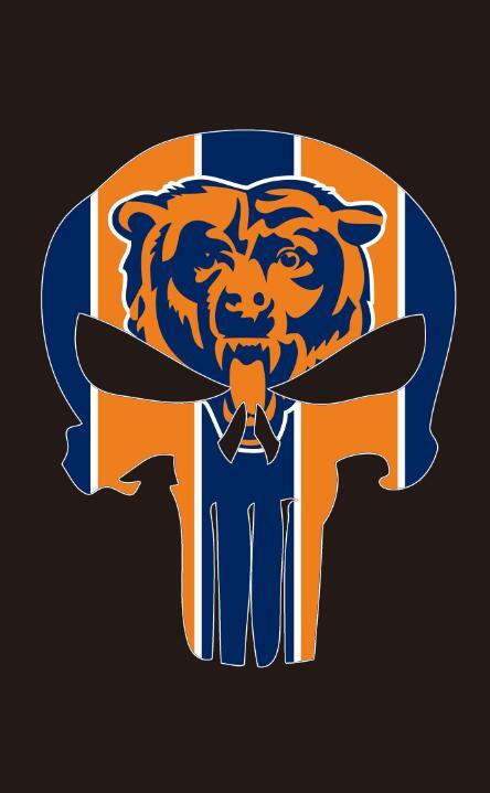 Chicago Bears 100d полиэстер цифровая печать красочные Футбол флаги рукав металлический Втулки 3x5ft спортивный инвентарь Скелет Флаг