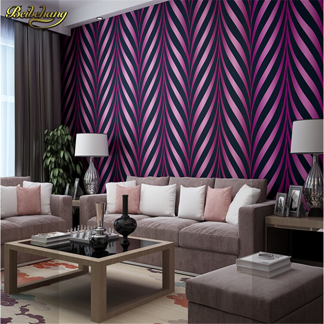 Beibehang New High Quality Modern Luxury Photo 3D Striped Wallpapers  Glitter For Walls Tapete Papel De