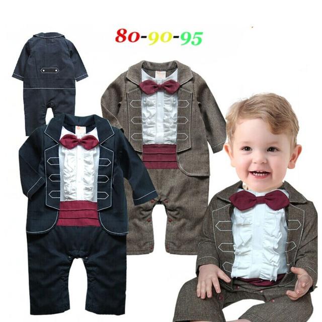 2016 nuevos mamelucos del bebé de manga larga traje de bebé niños pajarita mamelucos ropa roupa infantil menino