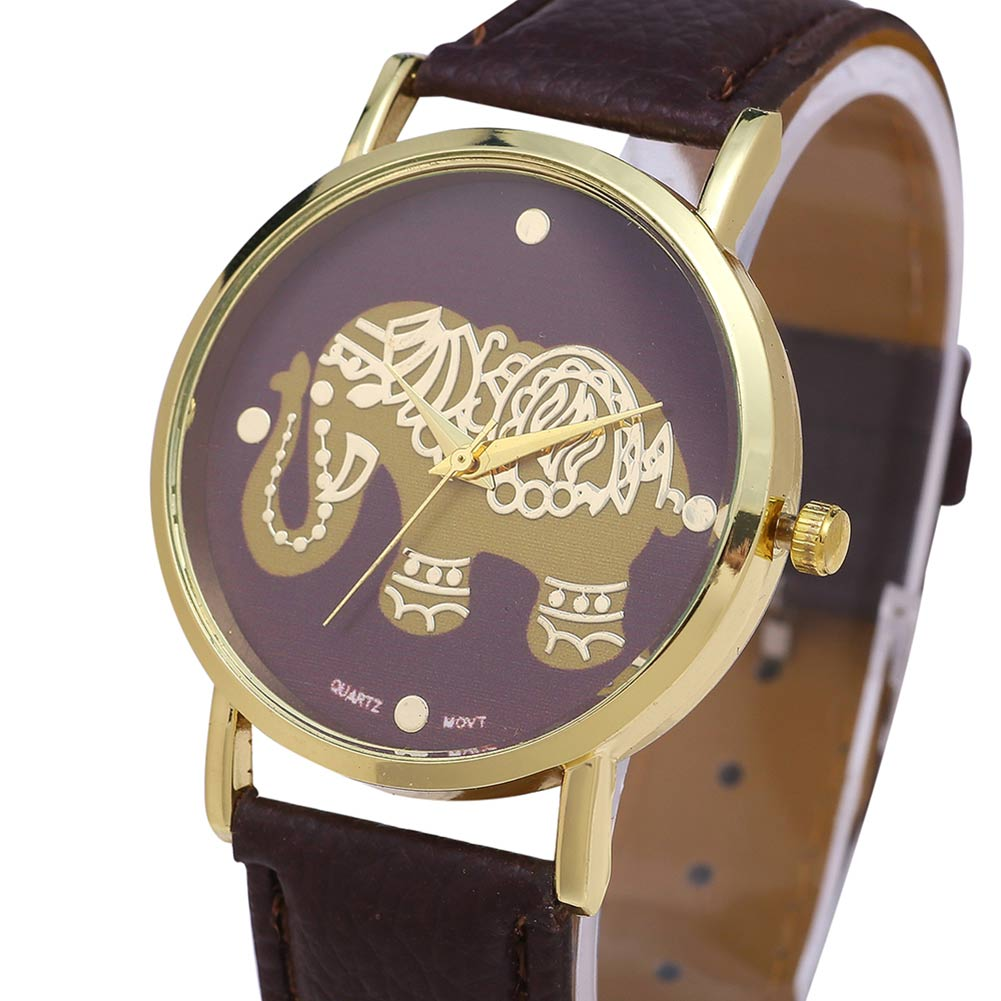 3 colors Fashion Women Watch Elephant Pattern Quartz Watches PU Leather Band Round Dial Wristwatch Gifts LL@17 обои виниловые флизелиновые zambaiti parati venezia r6406