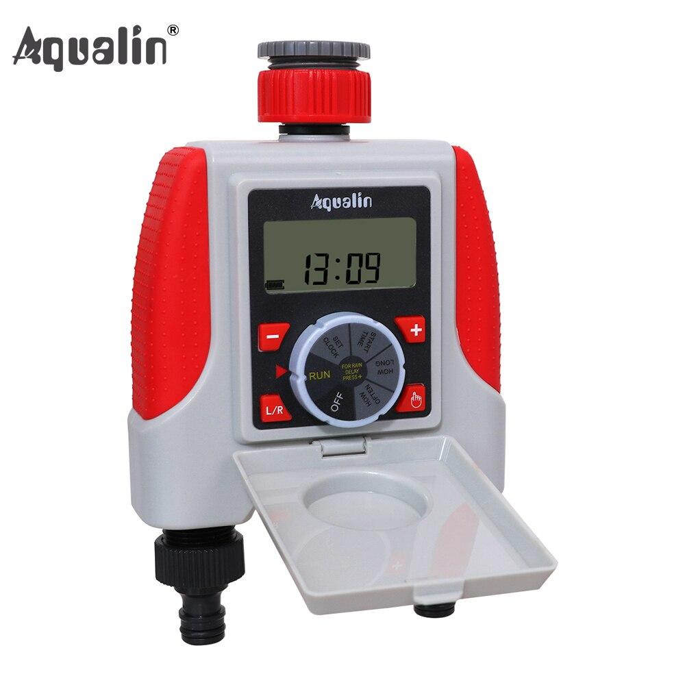 Double minuterie d'arrosage automatique à 2 sorties électrovanne électronique numérique minuterie d'arrosage système de contrôleur étanche #21068