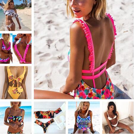 Hot 2018 Brazilian Sexy Print Bikinis Women Swimwear Push up Swimsuit Female Bikini Set Beach Bathing Suit Biquini