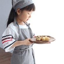 4 Farben Kind/Erwachsene Lange Baumwolle Leinen Latzschürze Startseite BBQ Backen Kochen Malerei Crafting Gartenarbeit Zeichnung Familie Arbeiten tragen D5
