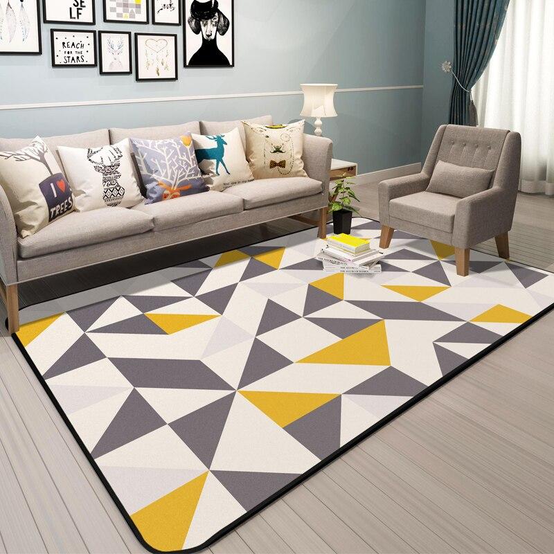 Современный краткое Стиль диван ковры и Ковры S для дома Гостиная мягкие Ковры для Спальня диван Кофе стол пол Коврики исследование Ковры
