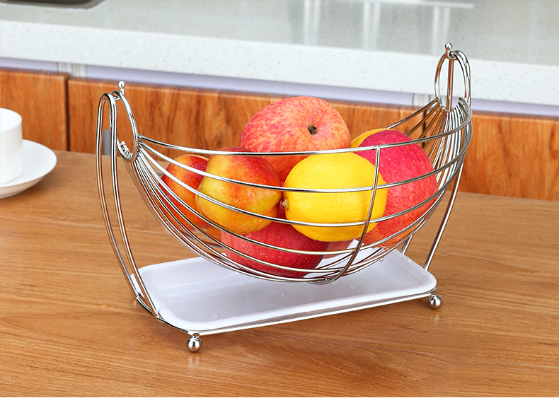 hammock fruit vegetables produce metal basket rack display stand in storage holders racks. Black Bedroom Furniture Sets. Home Design Ideas