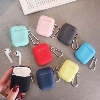 Bluetooth Wireless Earphone Case For Airpods Liquid Silicone Case Anti-lost Keychain liquid silica gel cover for Apple Air Pods
