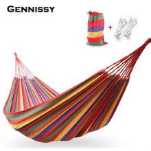 Gennissy Портативный высокая прочность Парашютной ткани Кемпинг гамак висит кровать с противомоскитной сеткой спящая гамак