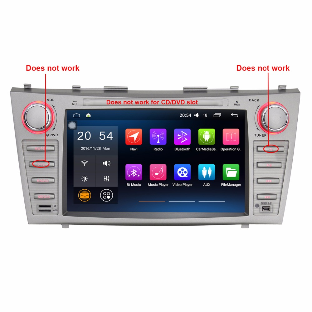 car dvd gps for toyota camry android 60 double 2 din quad