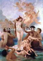 Handmade high quality painting reproduction The Birth of Venus by William Adolphe Bouguereau ,60x90cm,free shipping