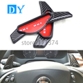 Carbon fiber ABS Steering Wheel Shift Paddle Extension Shifters Replacement For Jaguar XF XJ XJL
