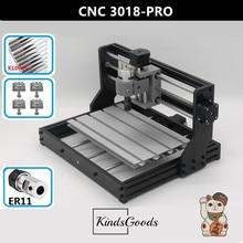 CNC 3018 Pro GRBL управления ER11 ремесленный станок с ЧПУ, лазерная гравировка, 3 оси печатных плат фрезерный станок, дерево маршрутизатор, передовые хобби машина