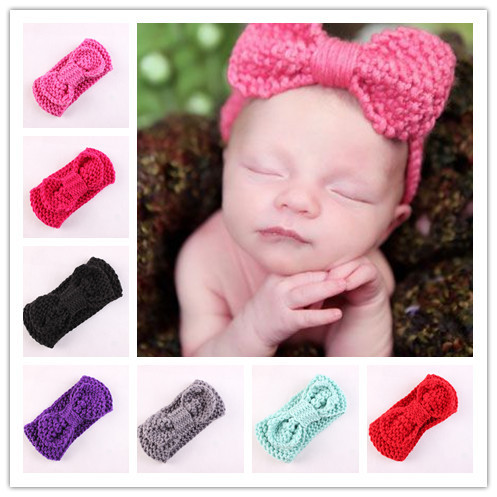 Hot Sale Baby Girl Crochet Headband Ear Warmer Knit Headwrap With
