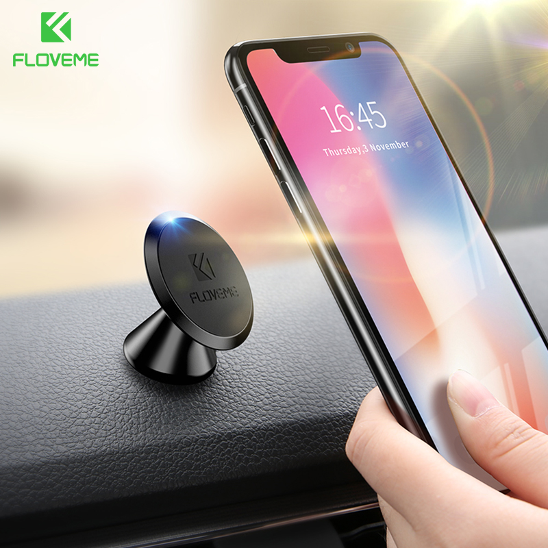 FLOVEME Car Magnetic Holder For iPhone XR XSMax Air Vent Mount Mobile Smartphone Magnet Cellphone Support Cellular Phone for car