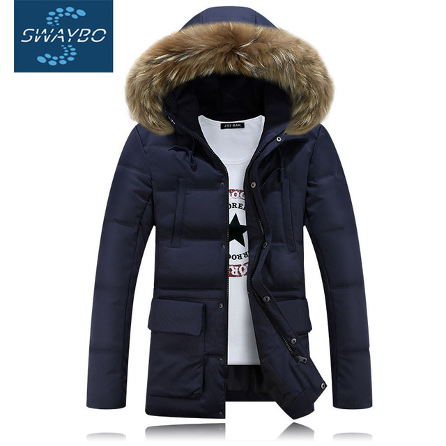 a093a64df9c Fur Lined Hooded Warm Mens Winter Coats 2016 Slim Geography Fubu Ultra  Light Cotton Down Jacket Solid Parka For Russian 3XL 1201