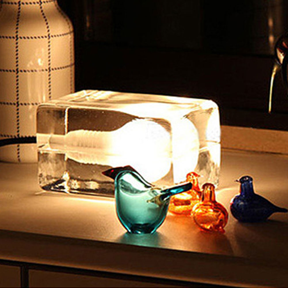 Mabor LED Table Desk Lights Lamp Ice Cube With Bulb G9 Christmas Home Decoration Creative innovation and unique ice block desk table lamp creative small ice lamp g9 220v free shipping