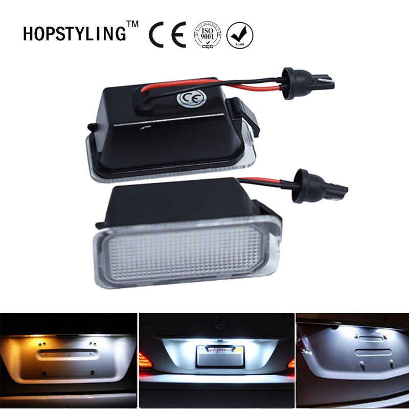 2PCS Error Free For Ford Fiesta JA8 Focus S-MAX C-MAX Mondeo Kuga Galaxy 2010 18SMD Car Led License Plate Light Lamp OEM Replace eonstime 2pcs canbus 18smd led number license plate light lamp for hyundai i30 gd 2013 2014 2015 auto car styling