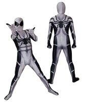Future Foundation Spider Man Cosplay Mask Bodysuit Suit Jumpsuit Super Hero Spiderman Costumes Halloween for Adult Kids