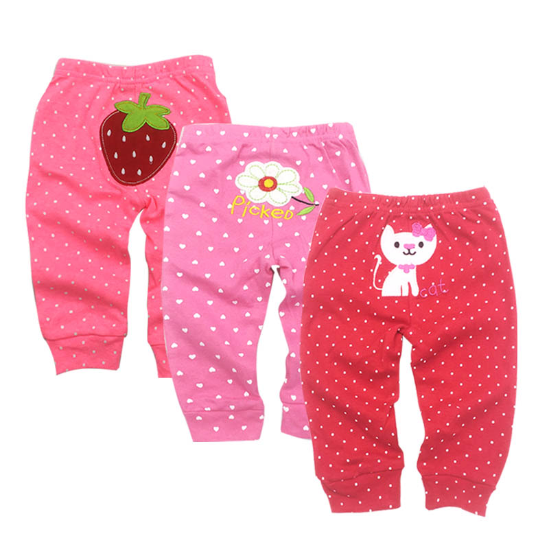 PP Pants 3pcs/lot 2019 Baby Fashion Model Babe Pants Cartoon Animal Printing Baby Trousers Kid Wear Baby Pants 0-24M title=