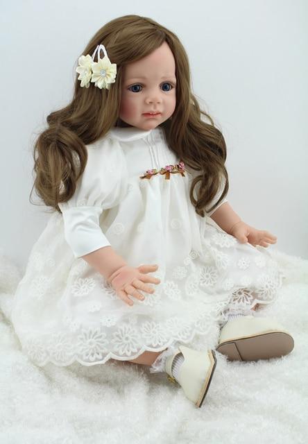 Modish Wysokiej jakości reborn lalki sklep 24 cal 60 CM silikonowe NY76