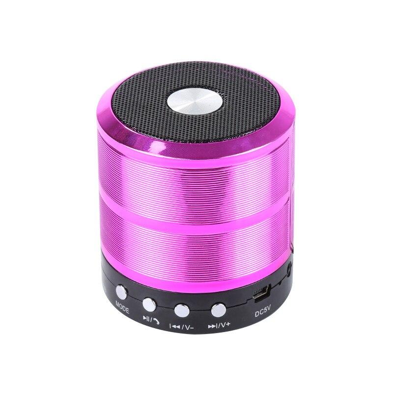 WS887 Bluetooth Speaker Portable Wireless Mini Column Stereo Music Sound Box Support FM Radio AUX TF Card USB Handsfree Call