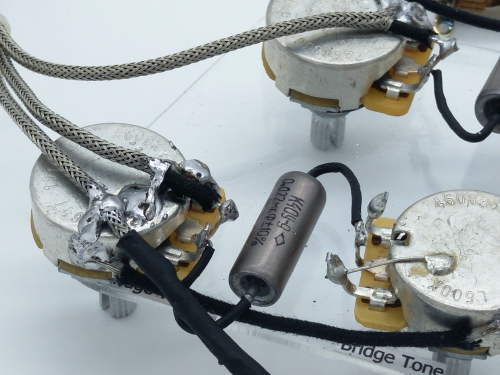 Gib LP SG Guitar Wiring Harness For1 Toggle Switch + 4 Pots + Jack ...
