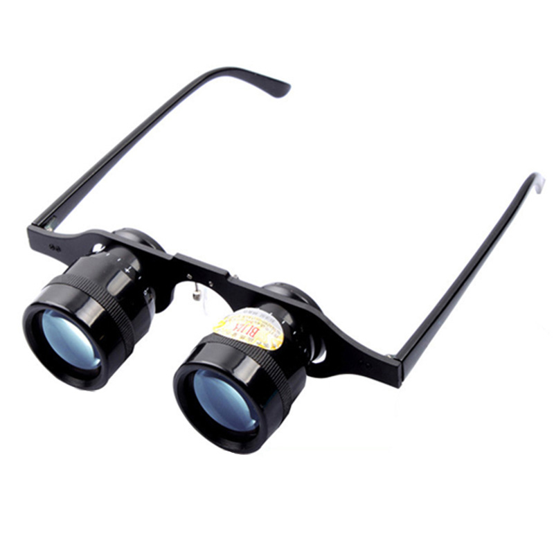 Adjustable 10 Times Zoom In Glasses Fishing 66g Ultralight Full Metal Hand Free Binoculars Telescope Polarized