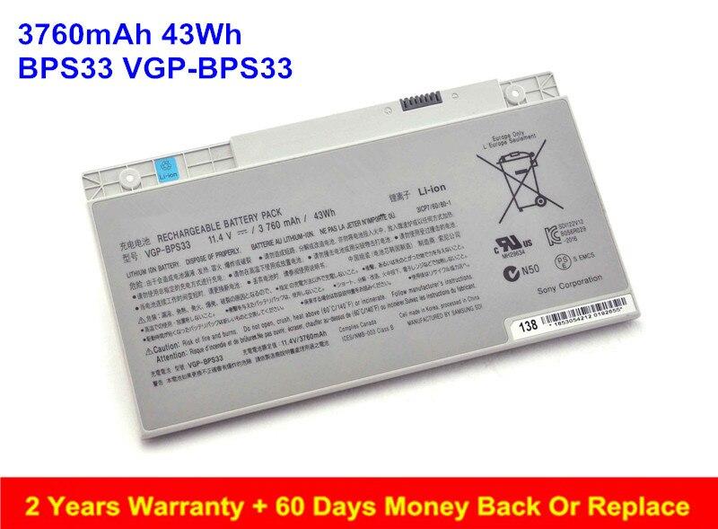 Original BPS33 VGP-BPS33 Battery For Sony VAIO SVT-14 SVT-15 T2 T15 SVT14124CXS SVT14118CC SVT151A11L SVT14127CSX SVT15117CXS оригинальный аккумулятор sony vpcz21 z212 z213 z214 z215 z216 sony vgp bps27