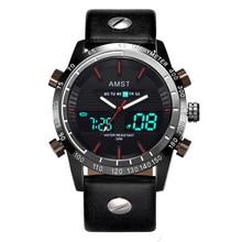 Creative Fashion Sport Military Wristwatches 2019 New AMST Watches Men Luxury Brand Waterproof LED Digital Analog Quartz