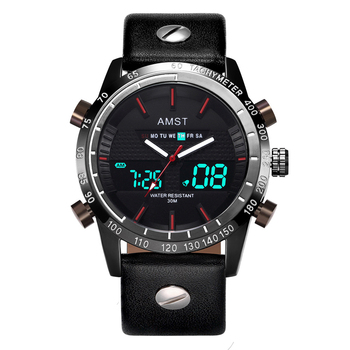 Creative Fashion Sport Military Wristwatches 2019 New AMST Watches Men Luxury Brand Waterproof LED Digital Analog Quartz Watches new fashion sports watches men led digital quartz military waterproof watch boy student multifunctional mens sport wristwatches