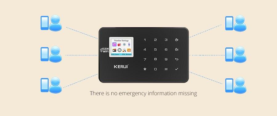 Kerui w18 wi fi sistema de alarme