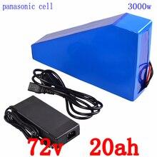 72 V батарея 72 V 3000 W использовать телефон panasonic Электрический велосипед батарея 72 V 20AH треугольник литиевая батарея с 50A BMS + 84 V зарядное устройство + сумка