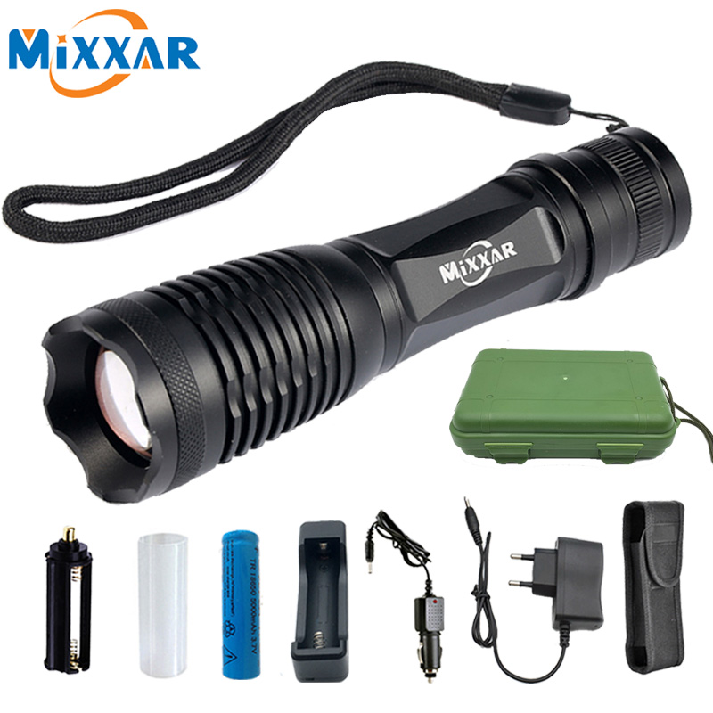 Dropshipping Powerful 9500LM L2 LED Flashlights Zoom Rechargeable Hiking Camping Travel Torch Lamp Lantern Working Light
