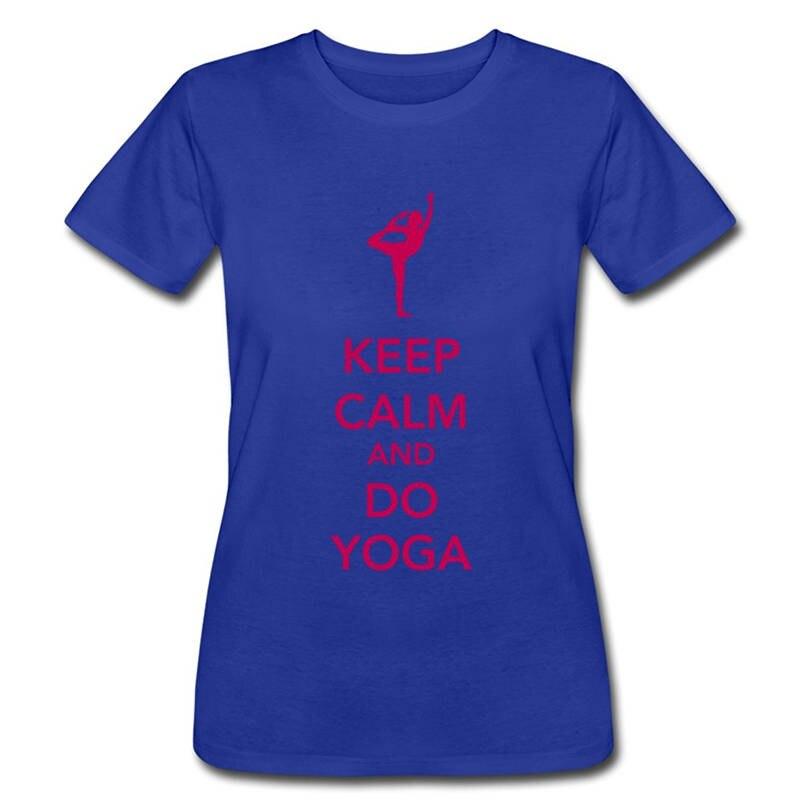 Hipster Tees Crew Neck Short Sleeve Christmas Womens Keep Calm And Do Yogaer Shirt