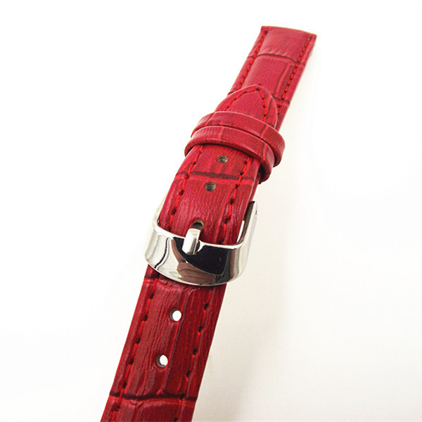 Retail - 1PCS High quality 14MM genuine leather Watch band  watch strap red color-070702 retail