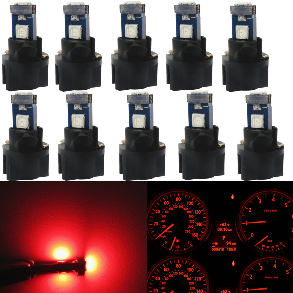 Buy Wljh 10x T5 Led Car Light 7 Colors Lamp 74 2003 Ford Windstar Dash Warning Lights Canbus Auto Wedge Gauge Instrument Panel Dashboard Speedo Cluster