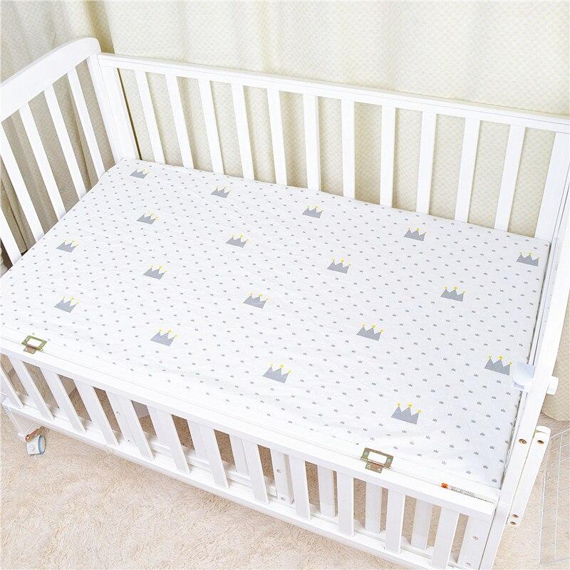 120*65 см детский матрас облака Фламинго Хлопок Дышащие простыни детские постельные принадлежности Детская кровать Чехол Новорожденный Фотография реквизит - Цвет: White crown